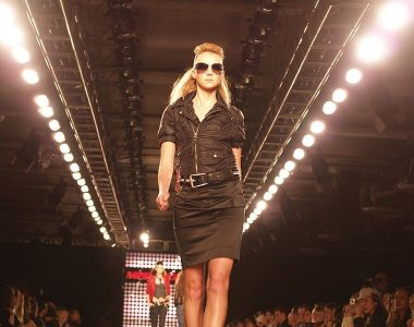 fashion model on the catwalk