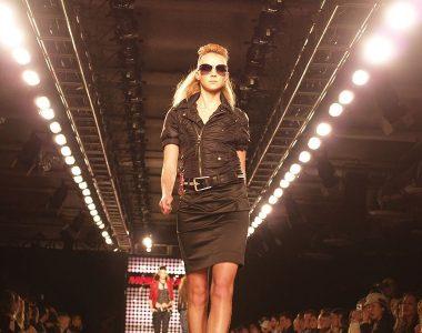 fashion model on the catwalk